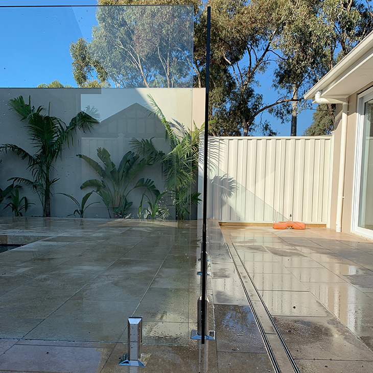 frameless glass pool fence keilor park