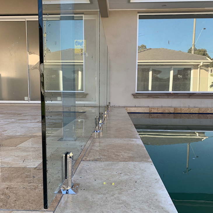 zero edge frameless glass pool fence keilor