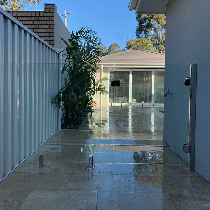 zero edge glass pool fence keilor